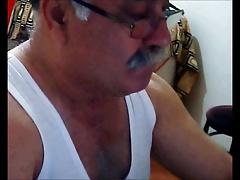 Turkish old grandpa wanking