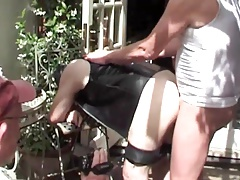 Bareback outdoor fuck and cum