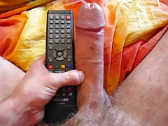 Str8 daddy Play with his big uncut cock