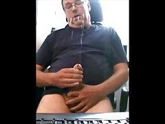 Swedish (svensk) older man sucks 5 dicks