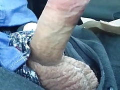 Str8 daddy horny on the bus