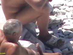 Ukranian daddies at the beach
