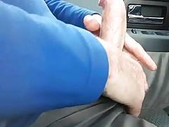 Daddy masturbates in car