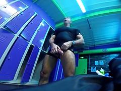 Str8 daddy handsfree in gym
