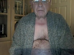 grandpa stroke and show his body on cam