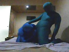 Zentai Roleplay with a Older Bear Man - Part 1