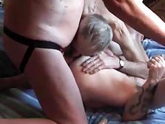 Group bareback fuck and suck