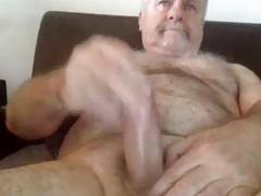 grandpa stroke on cam (no cum)
