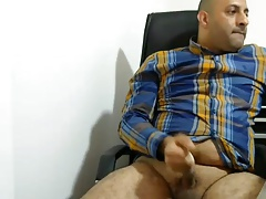 Masturbating Turkey-Turkish daddy Office Sex
