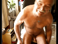 grandpa stroke and cum on cam