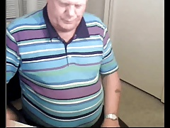 sexy grandpa stroke on cam and cum
