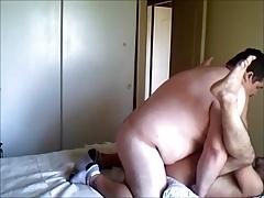 Bear fucks mature guy