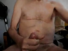Silver daddy jerk off 3