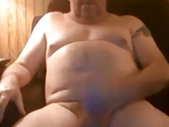 Chunky daddy with nice cock
