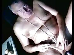 grandpa play with dildo on cam