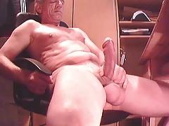 big cock grandpa cum on cam