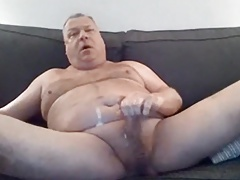 Hot daddy having a great load