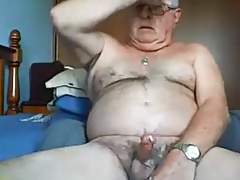 Married daddy stroking his creamy dick again