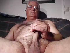 Daddy with glasses cums