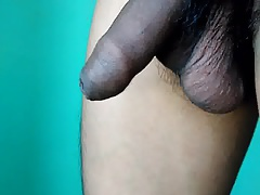 uncut cock playing