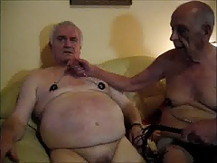 Silverhaired gay nippletorture 3