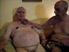 Silverhaired gay nippletorture 3