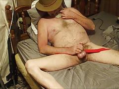 Cowboy Daddy masturbates