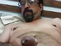 Daddy wanking hard