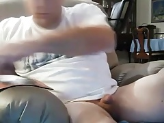 Sexy daddy playing his cock