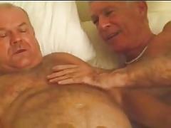 Sexy three mature old men