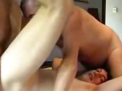 Three men enjoy sex with each other