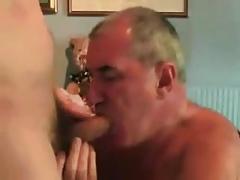 Older men sucking a younger men