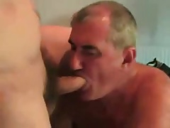 Older men sucking a younger men