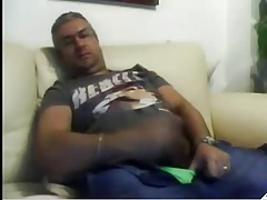 Sexy spaniard daddy bored and wanking