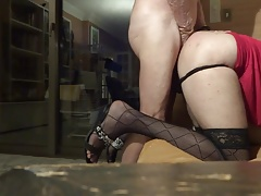 French Arab Trav Crossdresser Anal Sissy and Daddy