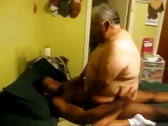 Fat daddy fucked