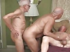 Three Grandpas on the Swimmingpool