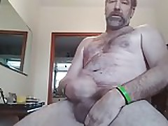 2 06 18 Danrun close-up of me oozing my Cum on stomach