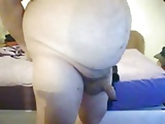 Naked wank and cum watching Naked Attraction.
