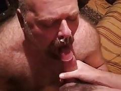 super blowjob of bear takes milk
