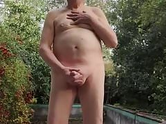Outdoor JO and Cum