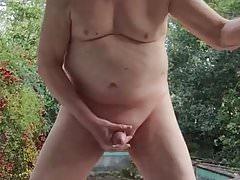 Outdoor JO and Cum