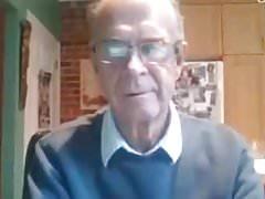 beautiful grandpa jerking off in the cam