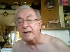 grandpa jerk off & show his asshole