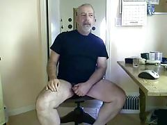 Silver daddy bear jerk off