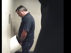 Dad spies in public toilet