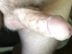 mature exhibitionist - long close-up with precum and cum