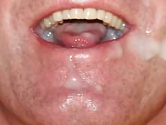 Jerking off in a buddy's mouth, fucking his face