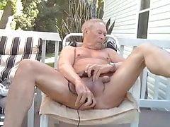 Daddy having fun outdoor