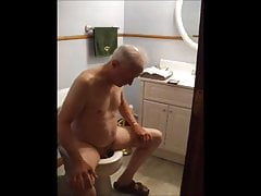 Jacking off on the toilet